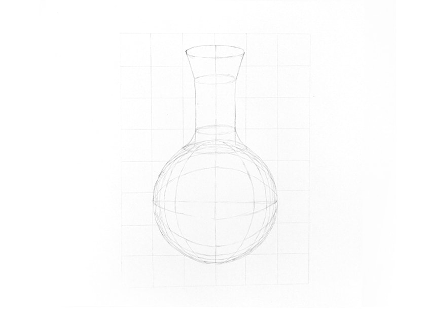 how to draw a 3d glass sphere