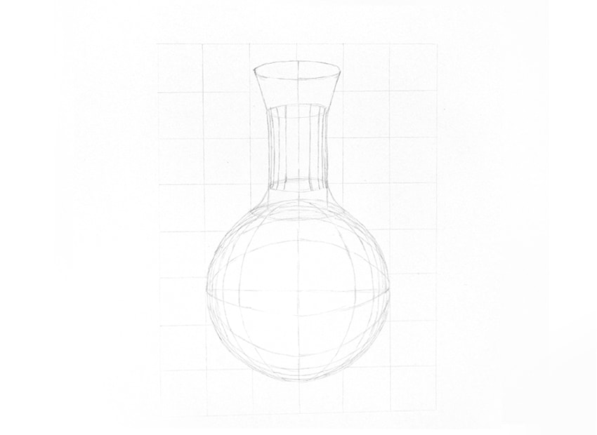 how to draw a glass cylinder