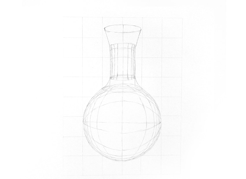 how to draw a 3d glass cylinder