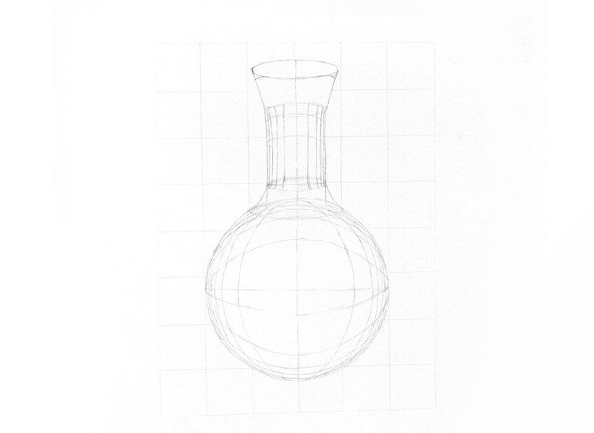 how to draw a solid galss bottle