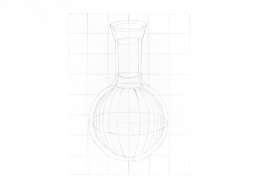 how to draw refraction isnide a bottle