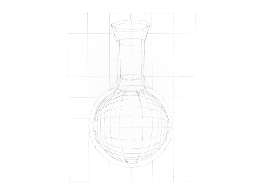 how to draw a 3d glass