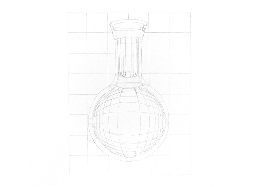 how to draw a glass opening