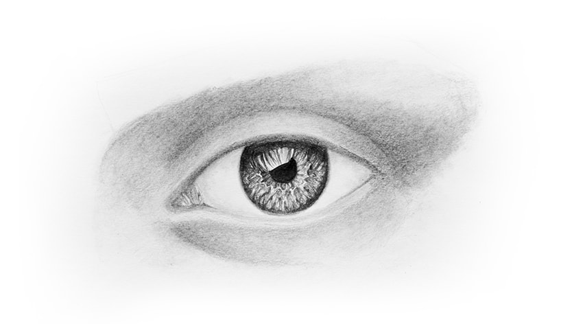 Eye Drawing With Pencil