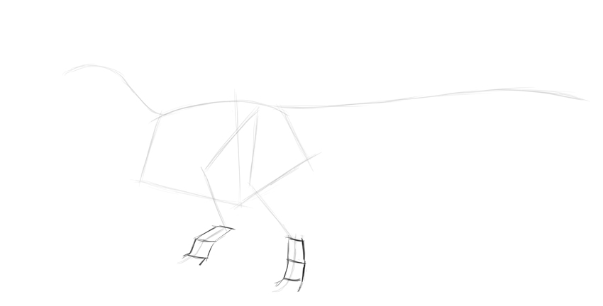 sketch dinosaur feet