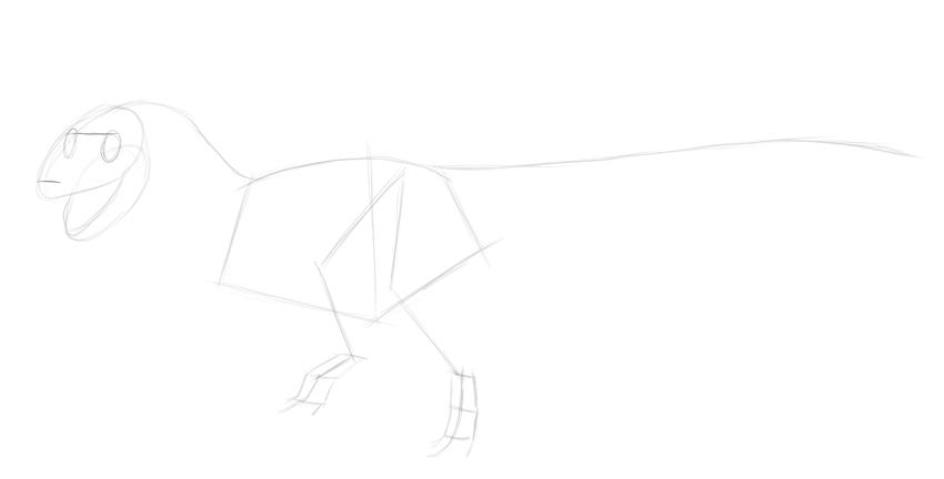 sketch dinosaur eyes