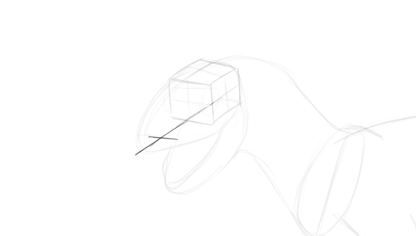how to draw dino upper jaw