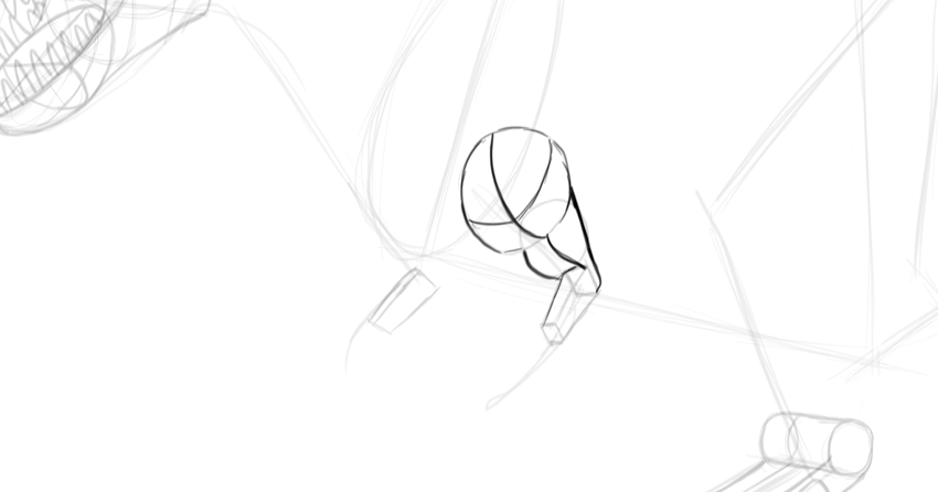 how to draw dinosaur arms