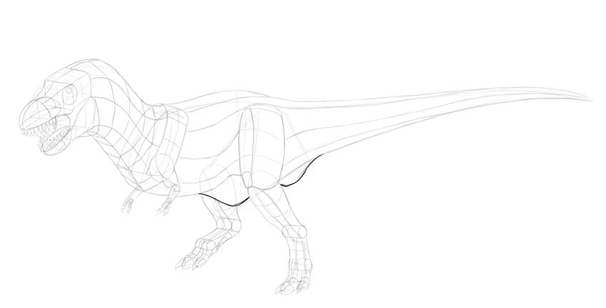 88 Gambar Arsir Dinosaurus Terbaik