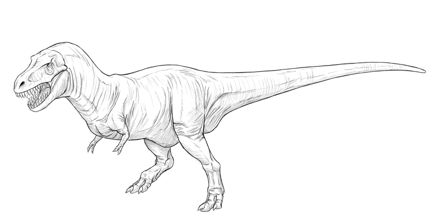 how to shade dinosaur