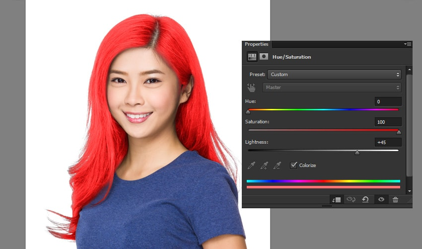how to changle hair saturation