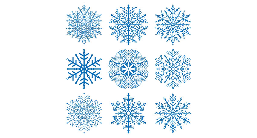 unique snowflakes