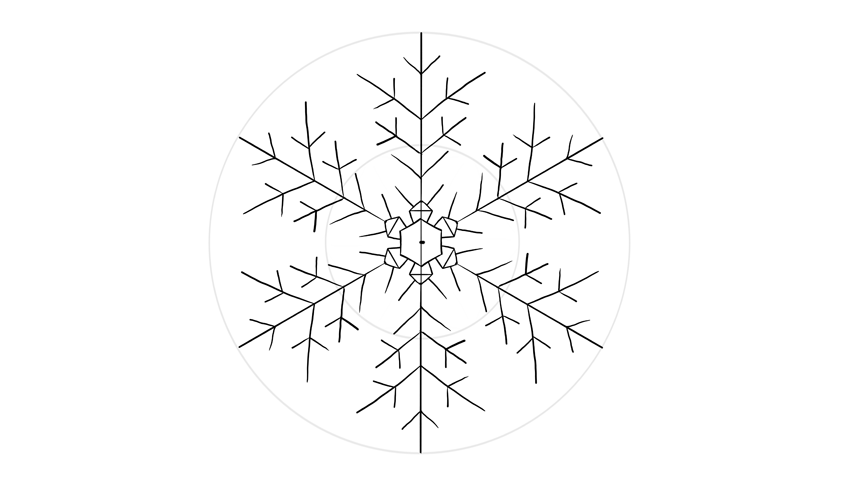 Line Drawing Snowflake : How to draw a snowflake