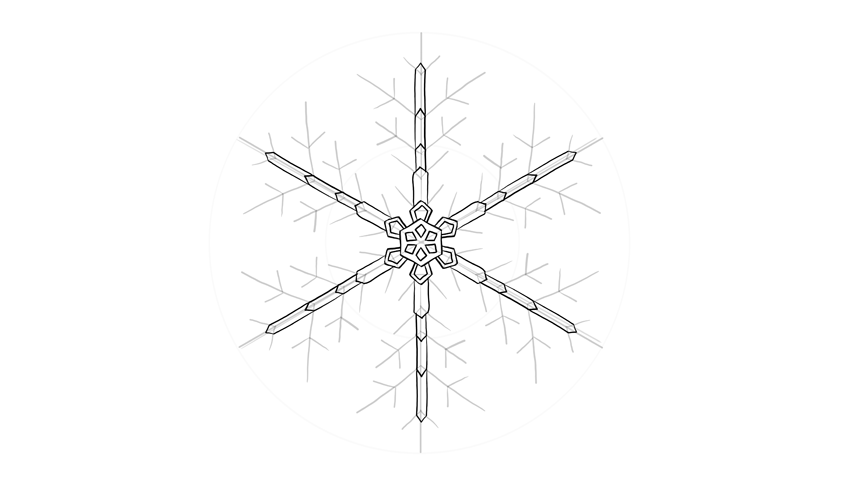 snowflake arms crystal