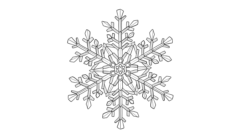simple snowflake drawing tutorial