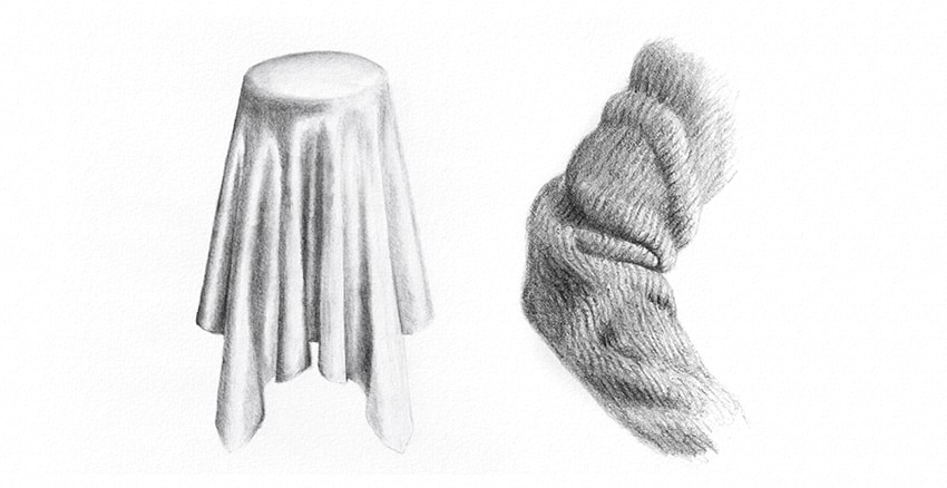 How to Draw Fabric: Silk and Wool