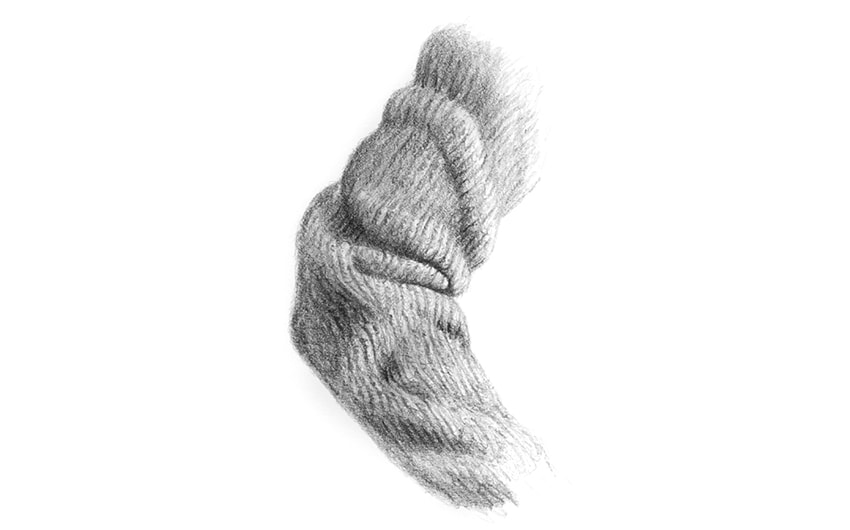 how to draw fabric silk and wool