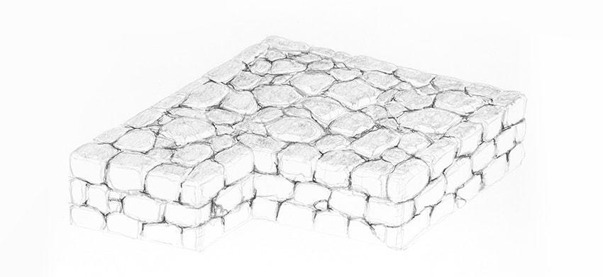 stone wall top shading