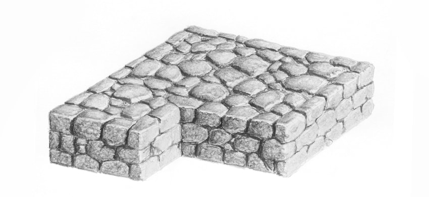 how to shade road stones