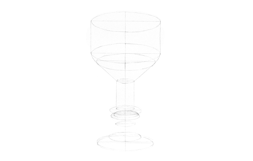 how to draw cup in perspective