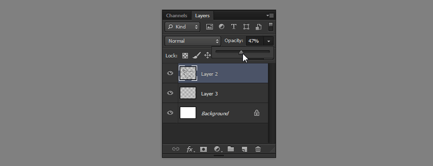 how to change layer opacity in photoshop
