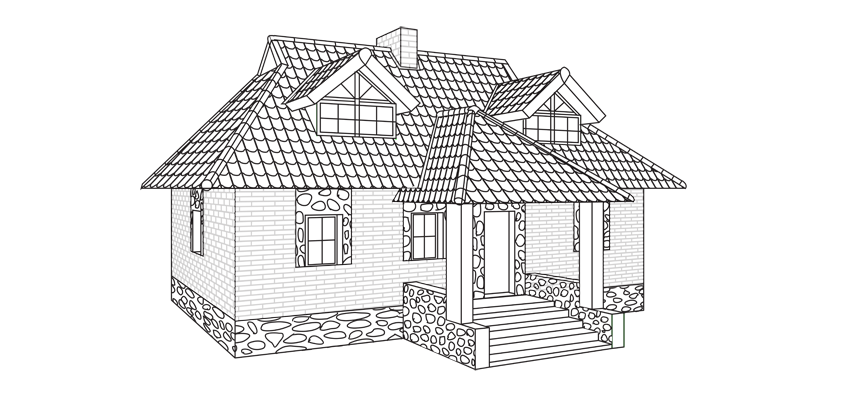 How to draw a house step by step for How to make a house step by step