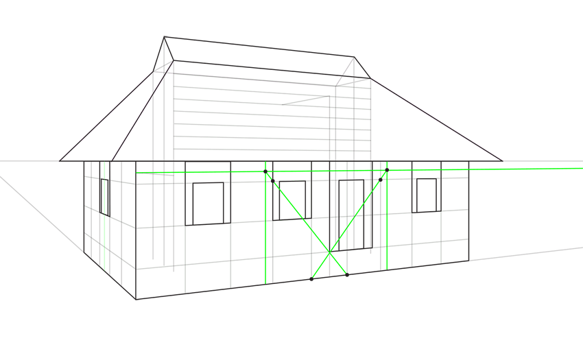 How to draw a house step by step for Draw your house