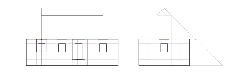 house roof length