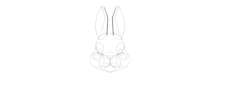 bunny ears drawing