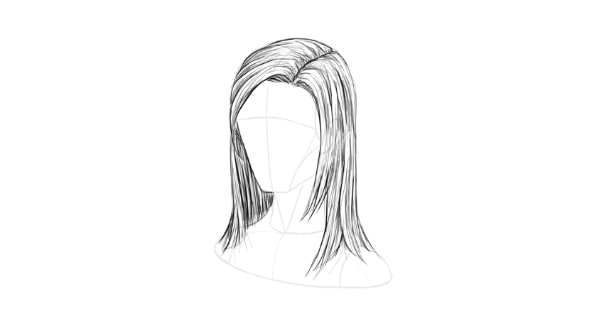 straight hair shading
