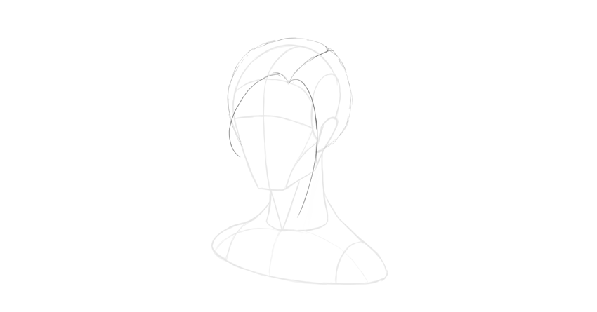 straight hair face outline