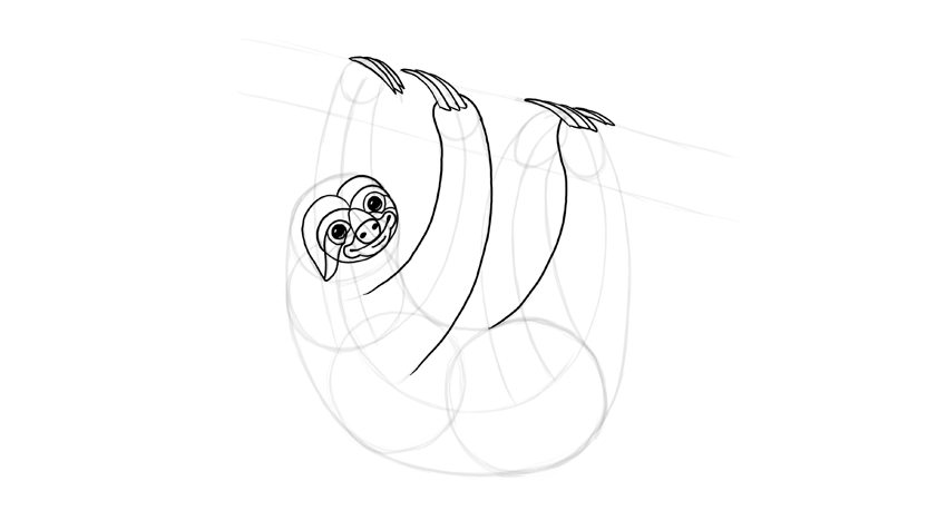 sloth claws outline