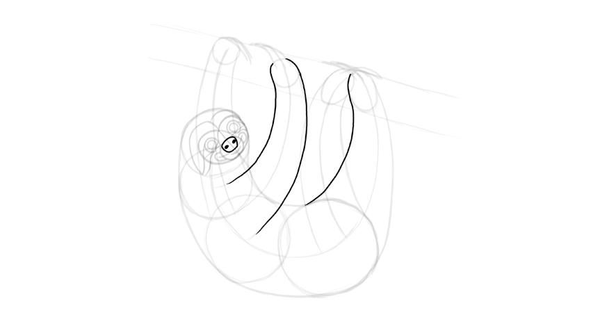 sloth nose outline