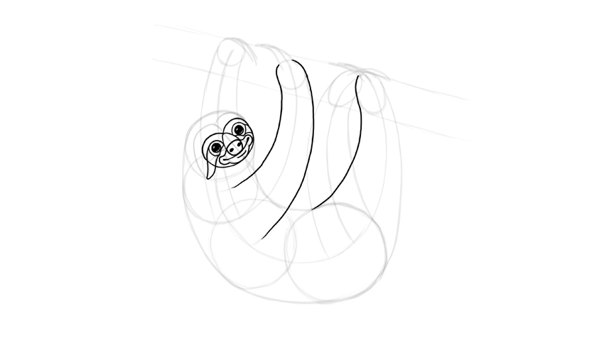 sloth face outline