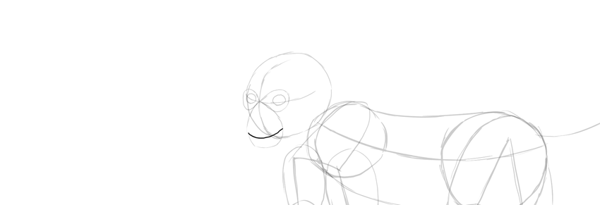 monkey drawing smile