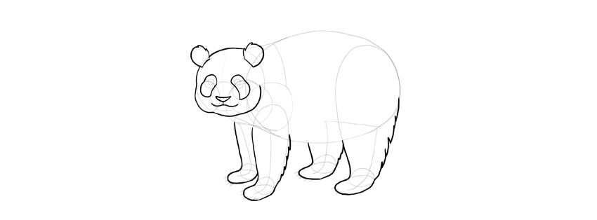 panda drawing head shape