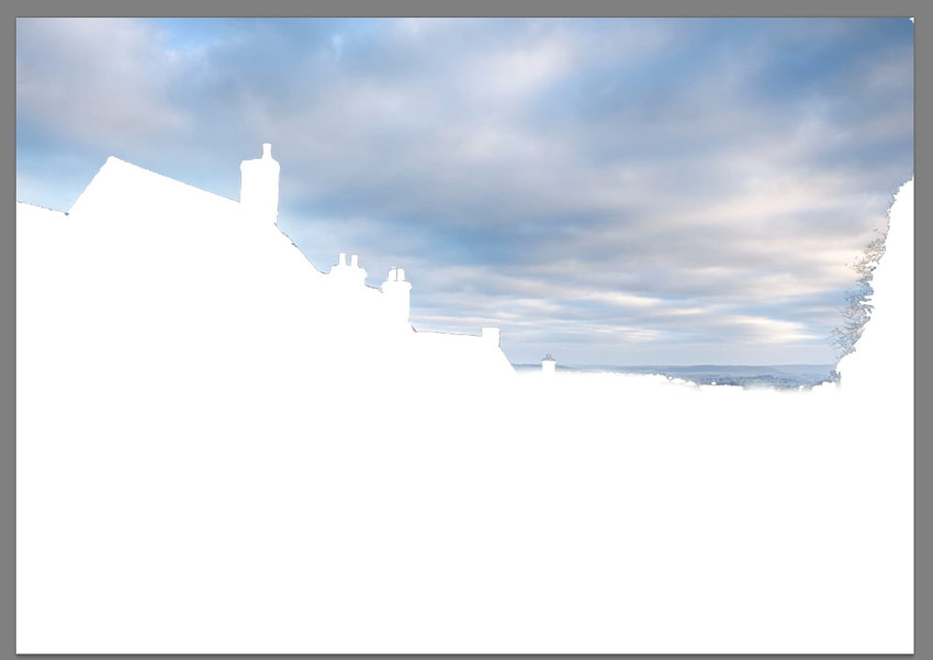 refine edge on white view