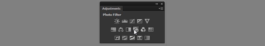 photo filter adjustment layer