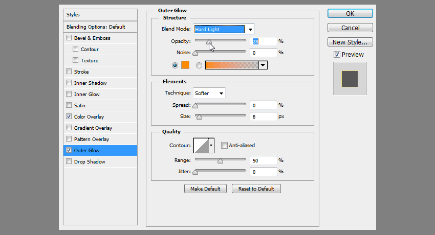 how to adjust blending options
