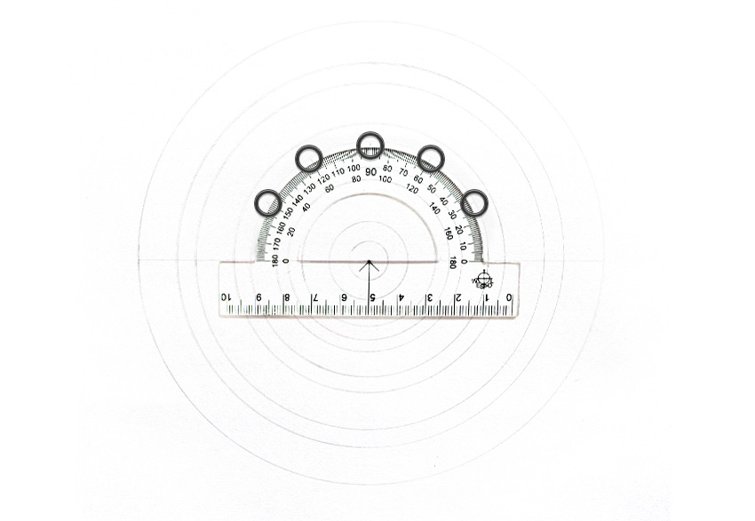 mandala sections protractor