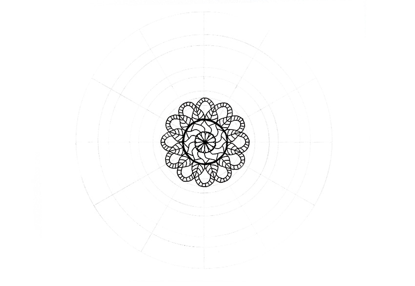 mandala full flower with details