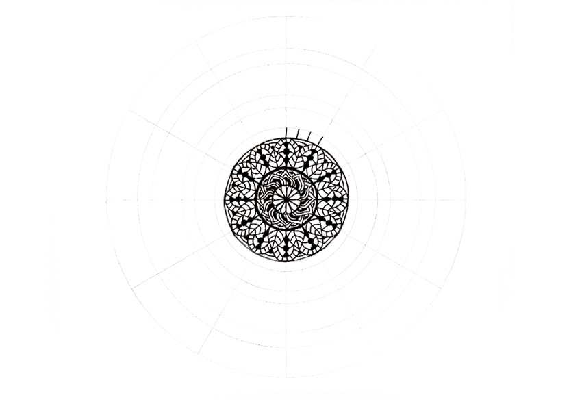 mandala divide in thirds