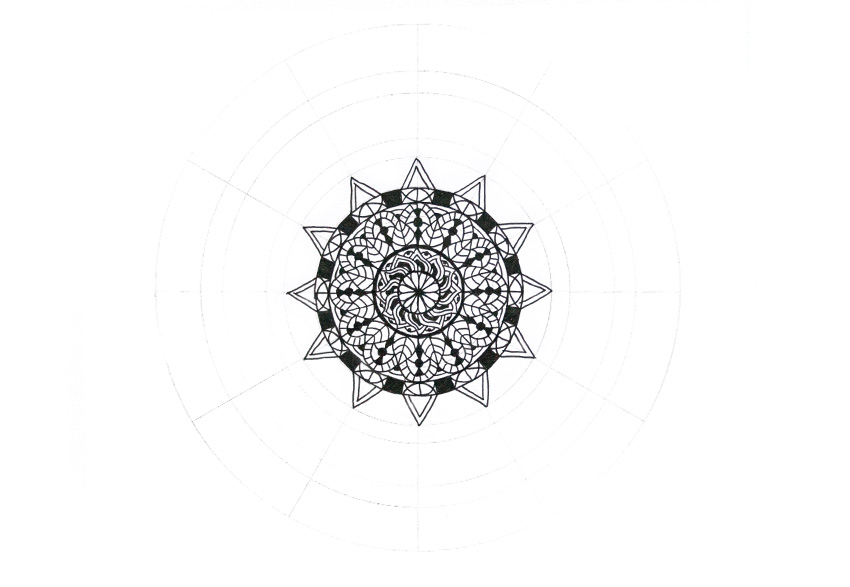 mandala triangle ornament