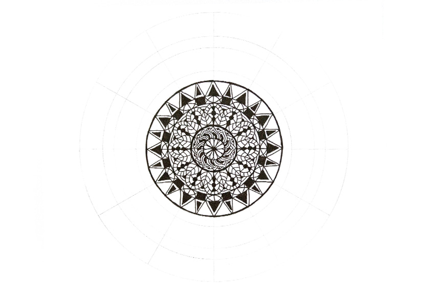 mandala how to add dark