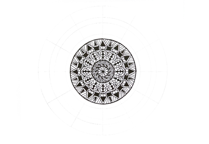 mandala filled simply