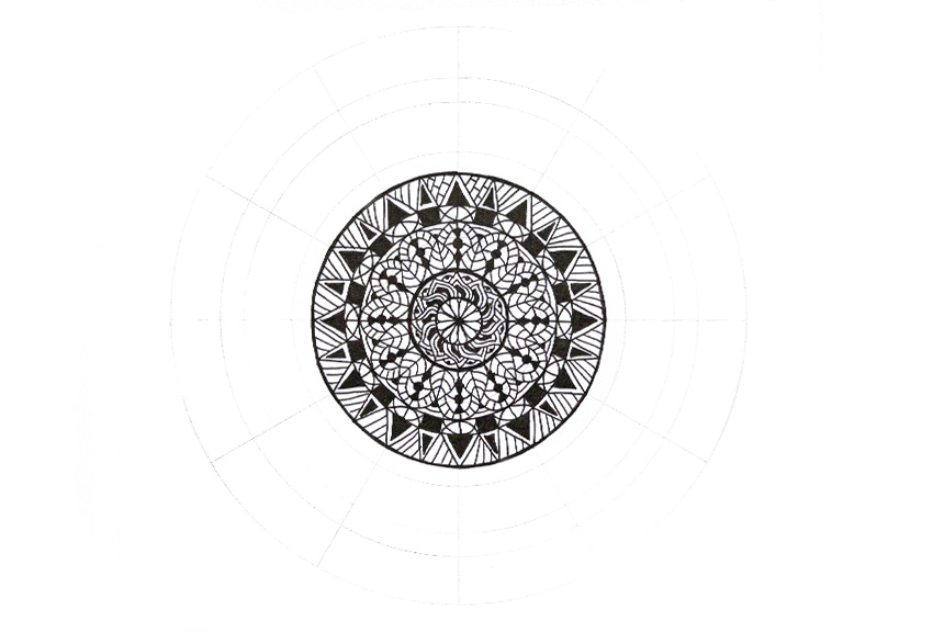 mandala simple decoration