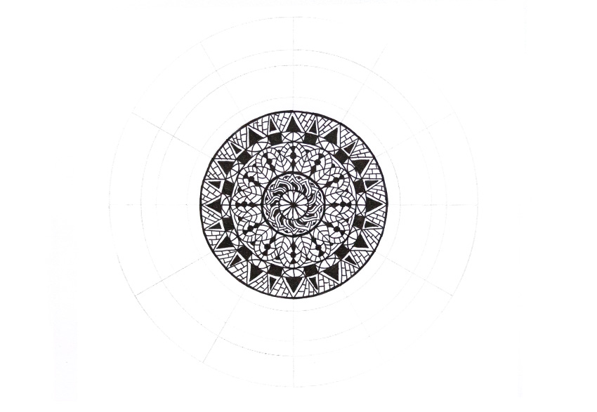 mandala simple decor finished