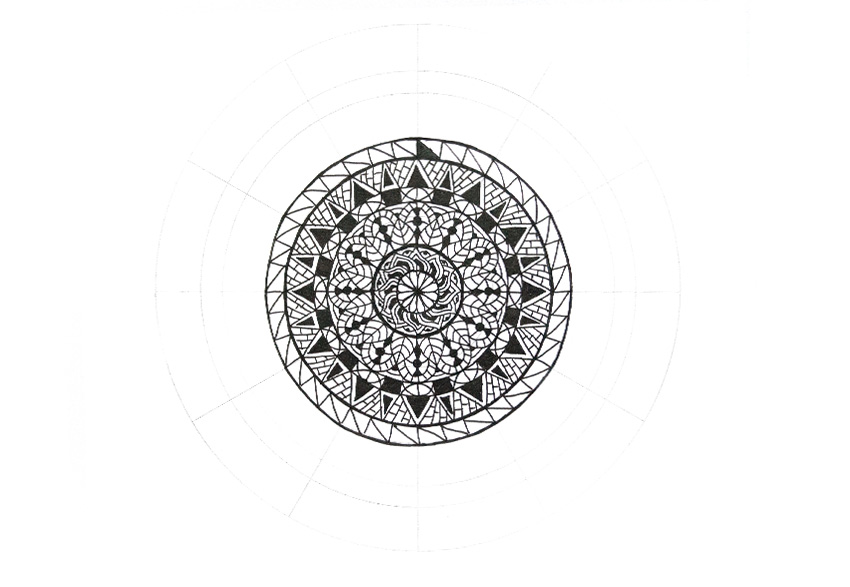 mandala contrast triangles