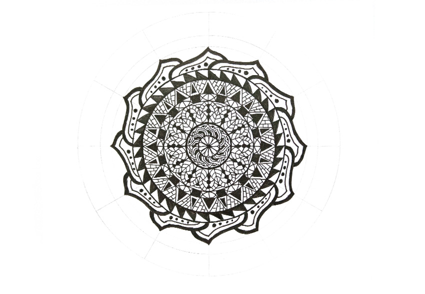 mandala more dots added