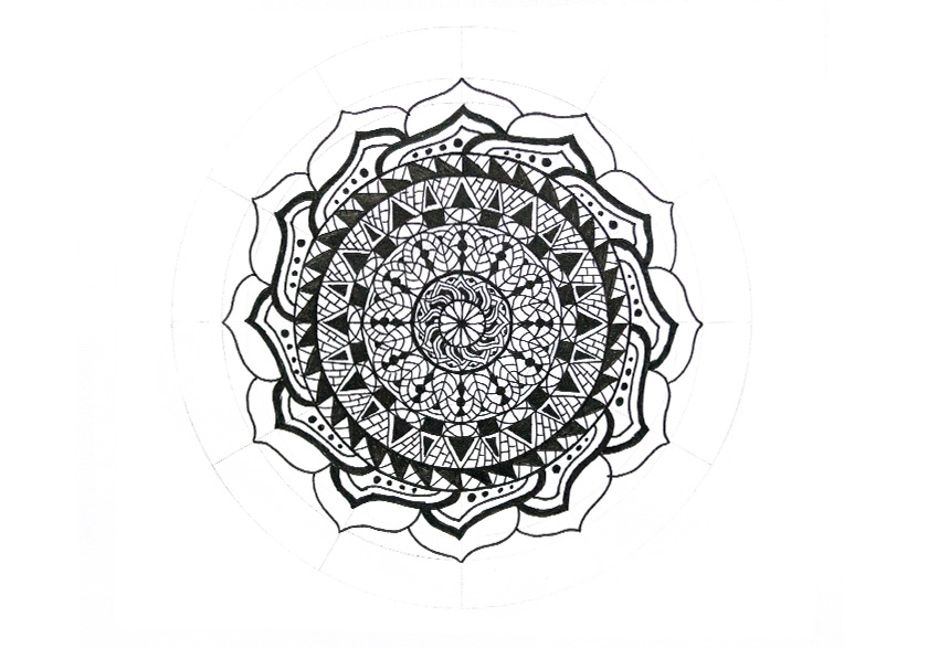 mandala huge petals finished